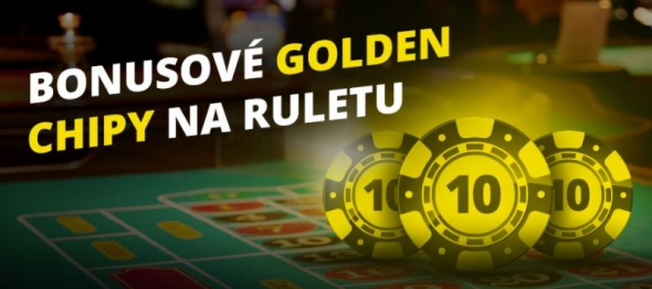 Bonusové golden chipy na ruletu od casina Fortuna Vegas